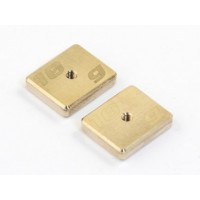 Radtech CNC Machined Precision Balancing Chassis Weights, 10g x2