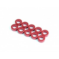 Aluminum Space 3x5.5x2mm, Red, 10 pcs