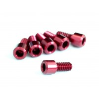 "4-40x1/4"" Cap Head Screw with 2mm Hex, Red"
