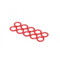 King Pin Spacer, Red, M3.2x5x0.5
