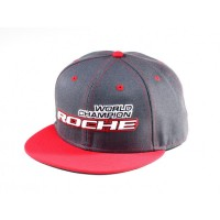 Roche - World Champion Commemorate Hat, Flat Bill, Gray/Red